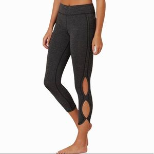 FREE PEOPLE INFINITY ACTIVE CHARCOAL GREY TIGHTS